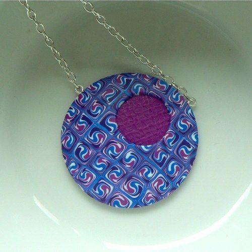 Spirálový náhrdelník Fimo (polymer clay)