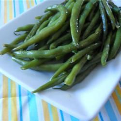 Pan Fried Green Beans - these were so yummy even my picky son liked them!