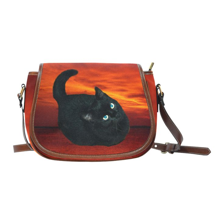 Black Cat Saddle Bag/Large (Model 1649)