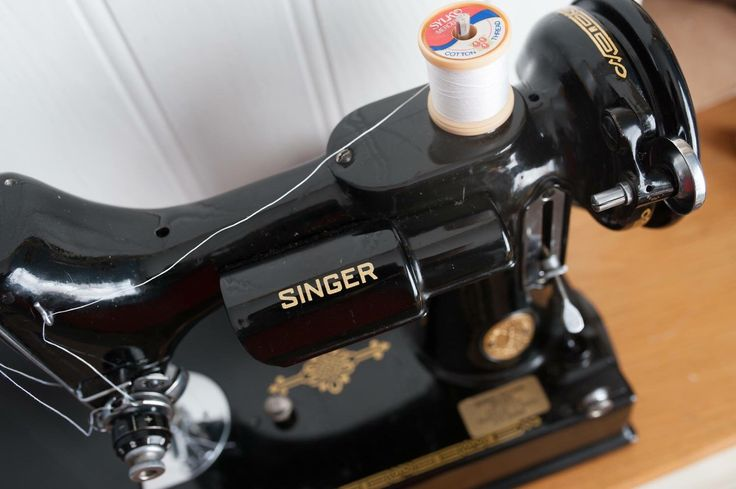 Beautiful 1950's Singer Sewing Machine, perfect for a sewing or craft room and available in our etsy shop.