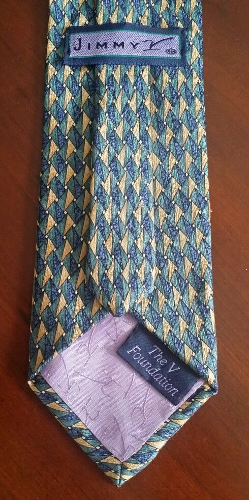 Mens Jimmy V Tie Diamond Design 100% Silk. The V Foundation. Valvano ESPN | Clothing, Shoes & Accessories, Men's Accessories, Ties | eBay!