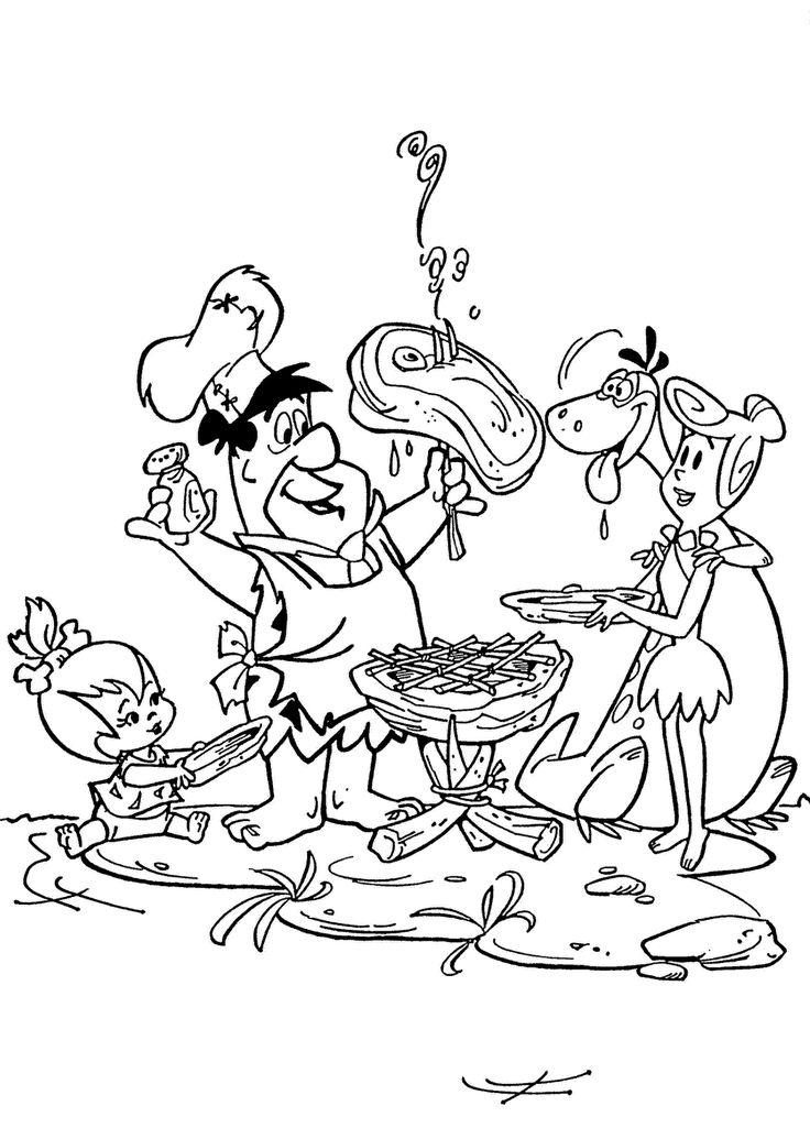 19 best flintstones coloring pages images on pinterest for Flintstones coloring pages