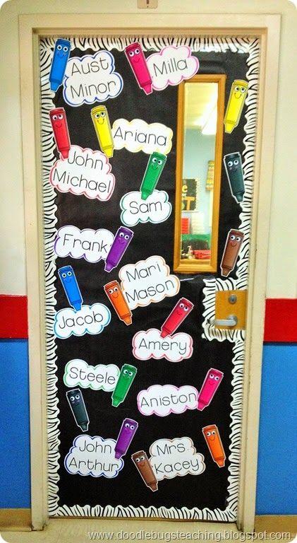 100 best bulletin boards images on pinterest school for Back to school door decoration
