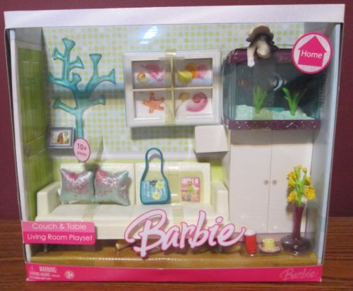 Barbie Home Couch and Table Living Room Playset | eBay