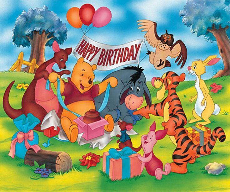 открытки с днем рождения винни пух дисней