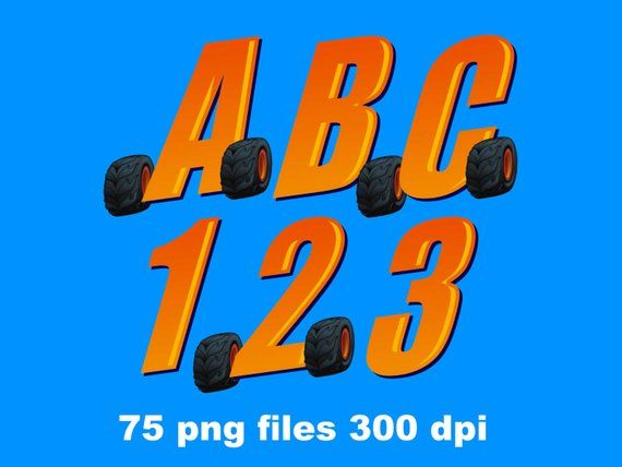 Blaze And The Monster Machines Full Alphabet Clipart 75 Png