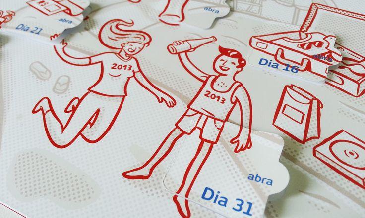 BRADESCO - MALA DIRETA FIM DE ANO - Guira Illustration