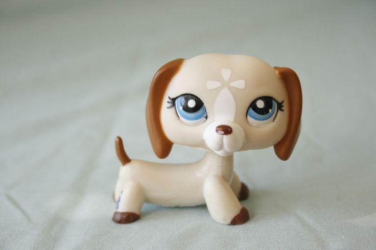 Rare Lps Littlest Pet Shop Cream Dachshund 1491 Lps