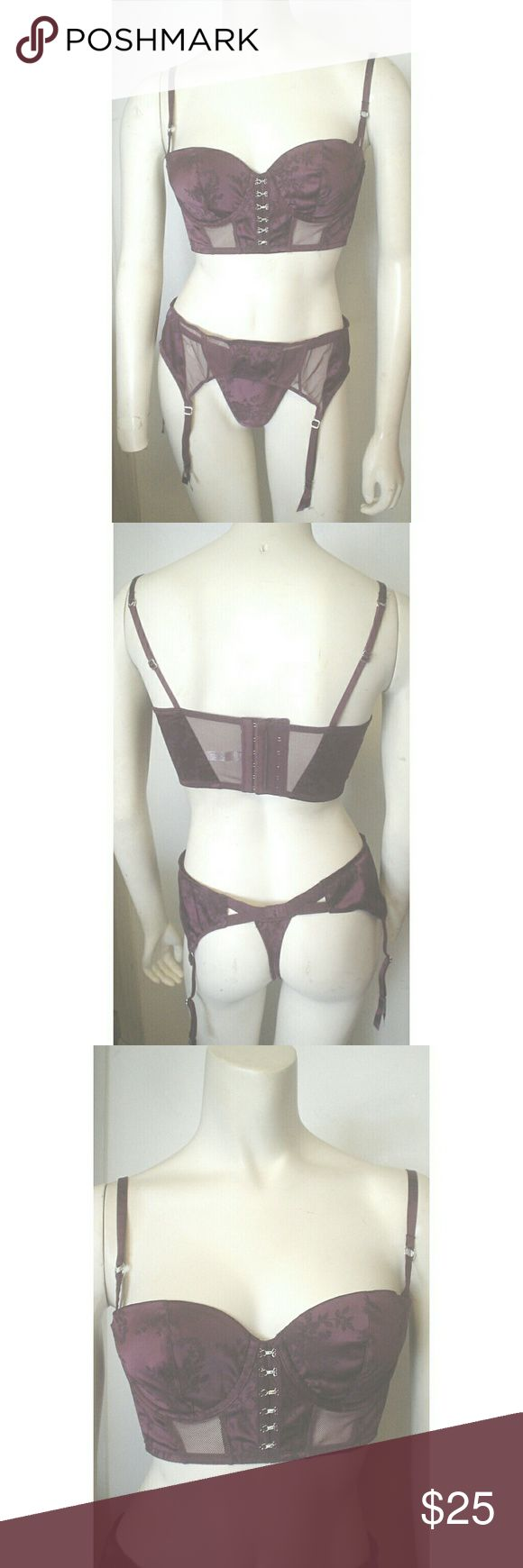 Victoria's Secret Eggplant Bra Panties Garter M EC Victoria's Secret  Eggplant / Purple Bra / Panties / Garter Matched Set Sexy  Size Medium  Perfect for Valentine's Day! (Automatic Priority Mail if purchased before February 10!)  I have inspected the set and found no rips, stains or flaws.   Thank you for checking out my item! Victoria's Secret Intimates & Sleepwear Bras