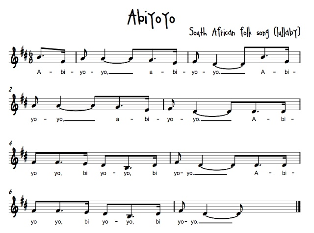 Collection of notated African folk songs, some with lesson plans. Many not translated and are without stated sources.