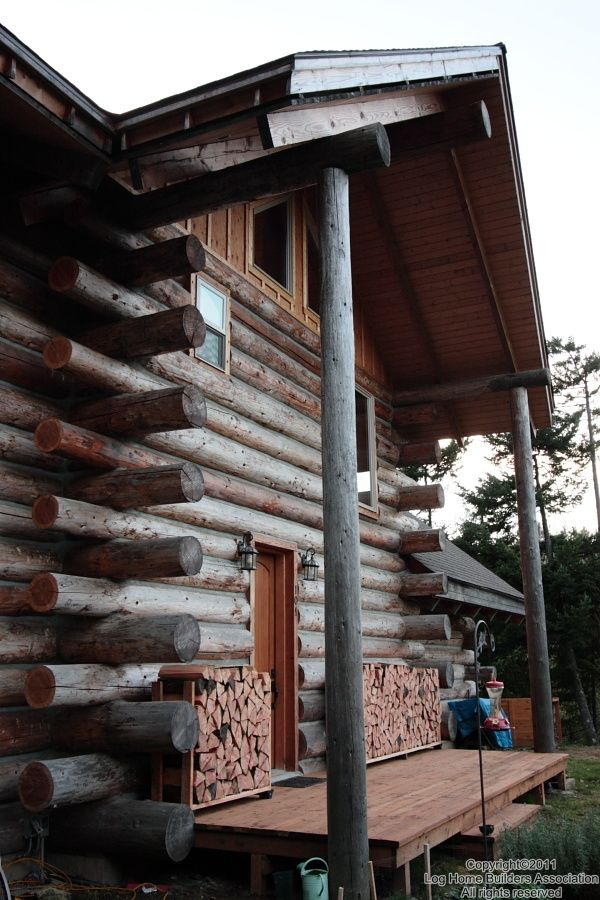 17 best images about cabins log butt and pass on for Butt and pass log home