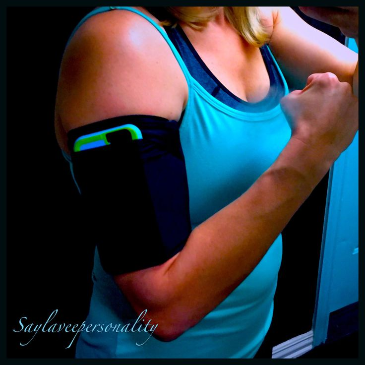 Jogging armband to hold your music, phone and keys while exercising! Monogram NOT included for this listing. by SayLaVeePersonality on Etsy