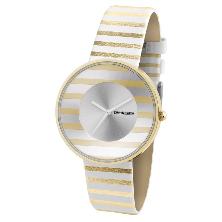 Reloj Blanco y Dorado Lambretta Cielo Stripes http://www.tutunca.es/reloj-blanco-y-dorado-lambretta-cielo-stripes
