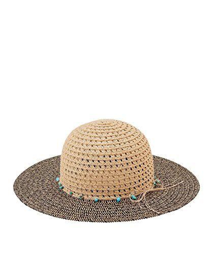 07991914253 San Diego Hat Company Women s Open Weave Crown Turq Trim Paper Brim ...