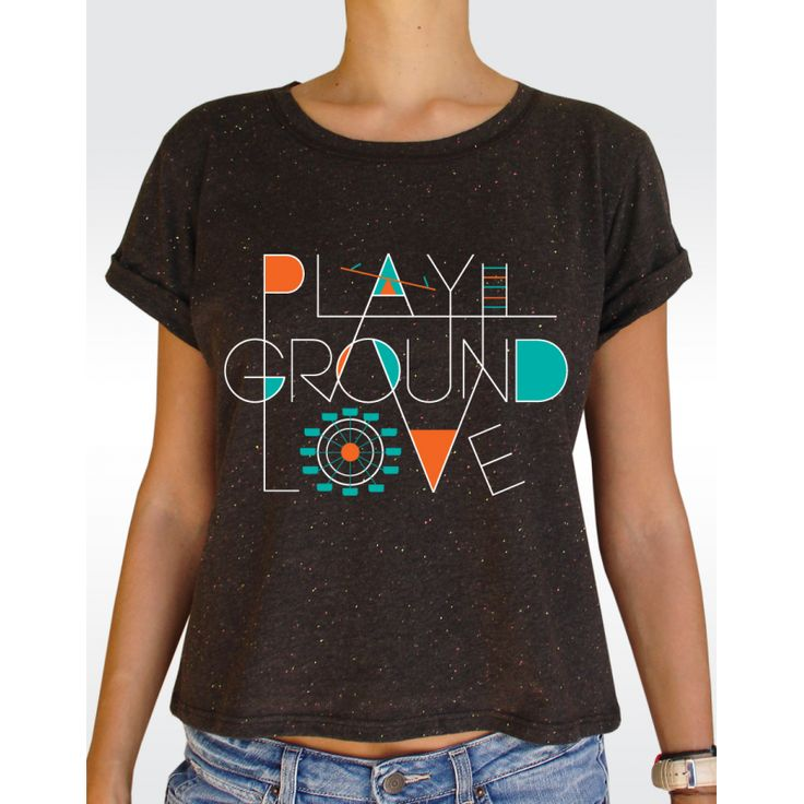 W89 PLAYGROUND T-shirt Women's Speckled Rolled Up Sleeve T-shirt Available in 2 colours