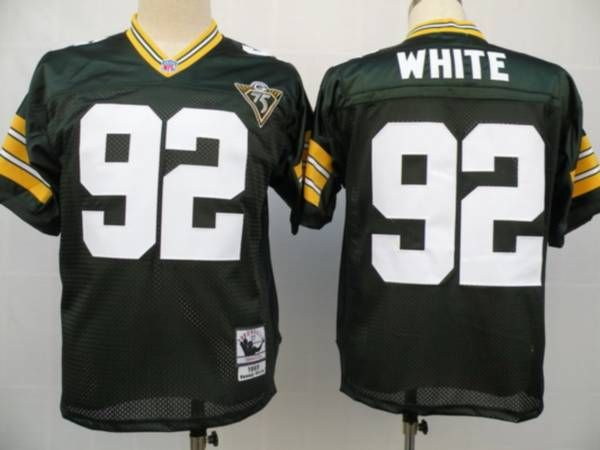 Mitchell & Ness Packers #92 Reggie White Green With 75th Patch Stitched NFL Jersey  $19.50
