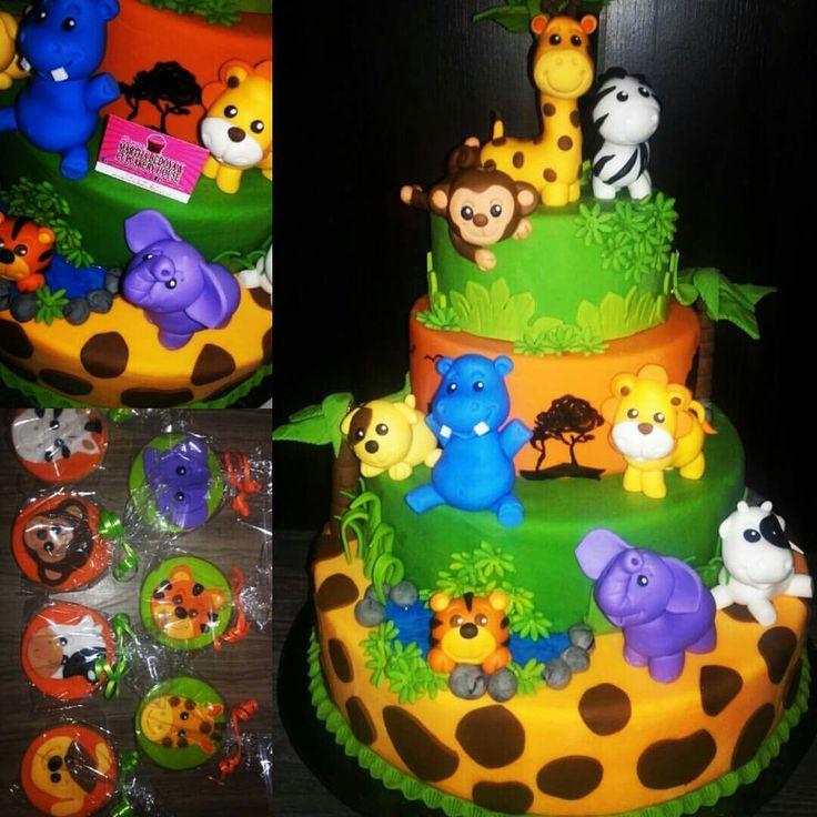 Cake animales selva