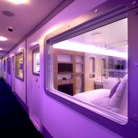 Pod hotels - NYC, London, Asia. Bods in Pods. Pod hotels for slim travellers on slim budgets. From The Pod Hotel New York, to the easyHotel London, Heathrow's Yotel, Qbic, Tokyo capsule hotels and Malaysia's Tune Hotels, no-frills budget hotels are making waves.