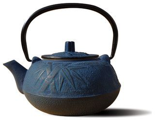 Blue Cast Iron 'Osaka' Teapot - asian - coffee makers and tea kettles - by Old Dutch International
