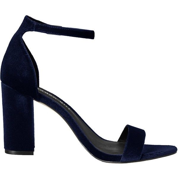 Madden Girl Women's Beella Dress Sandal (£22) ❤ liked on Polyvore featuring shoes, sandals, navy blue sandals, navy blue dress sandals, navy blue shoes, dress sandals and wide dress sandals