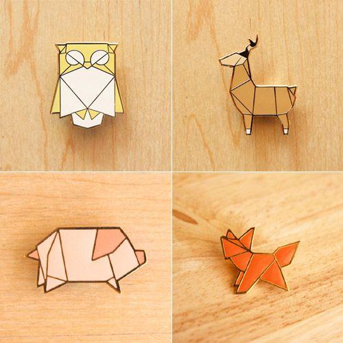 My Owl Barn: Animal Origami Brooch