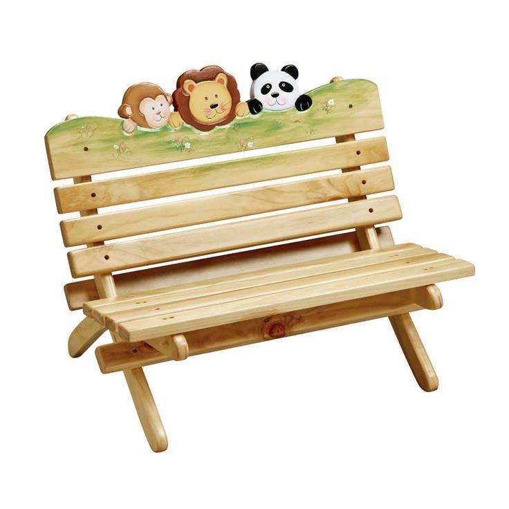 Kids Outdoor Bench Jungle Fun 74 best