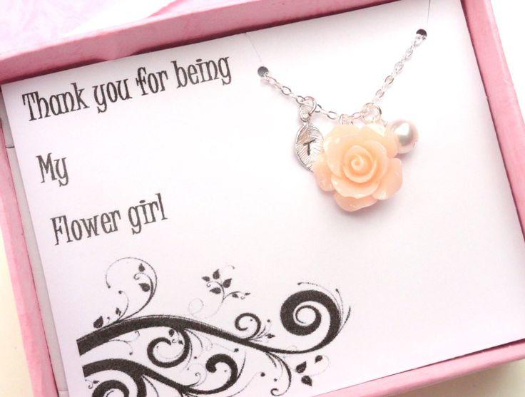 Blumenmädchen Danke  Geschenk Box Schmuck von Alwaysabridesmade, $28.00