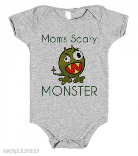 Moms Scary MONSTER - baby one piece tees