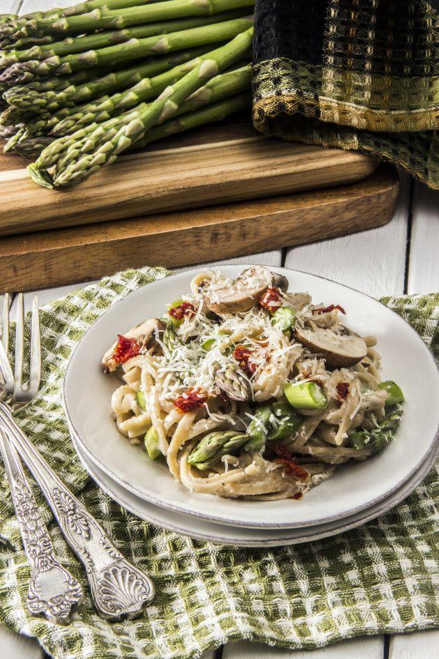 Creamy Shrimp & Asparagus Quinoa Risotto Recipe — Dishmaps