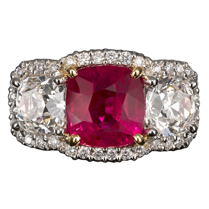 Natural Burma Ruby Ring Jewelry rings, Stone rings and