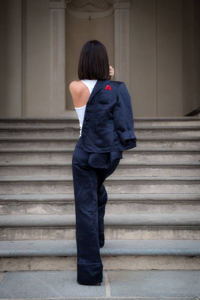 #chic #dandystyle #abito #aspesi #look #outfit #lady #totallook #streetstyle