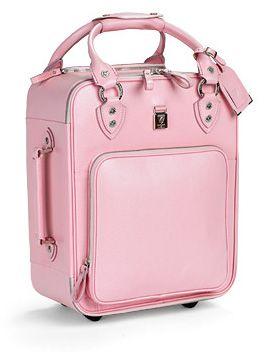 Aspinal Pink Luggage