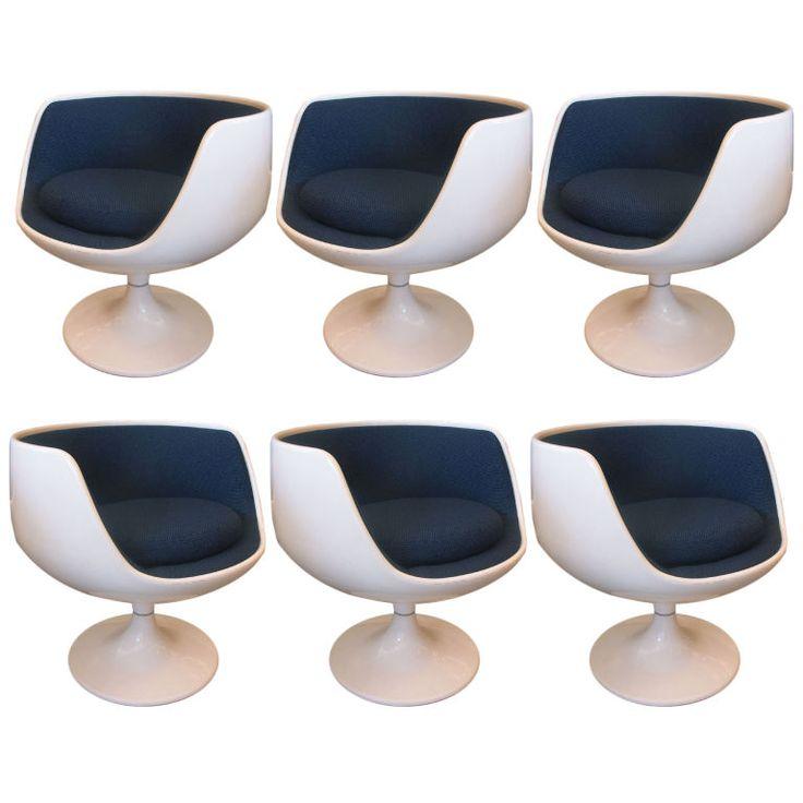 "Eero Aarnio ""Swivel"" chairs, Finland, 1960s."