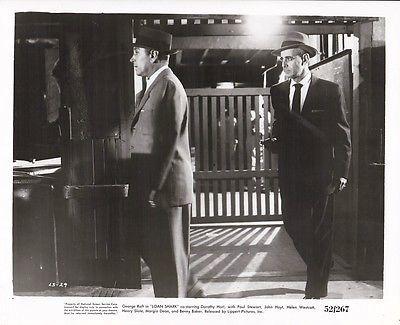 GEORGE RAFT PAUL STEWART Original Vintage LOAN SHARK Film Noir Gangster Photo