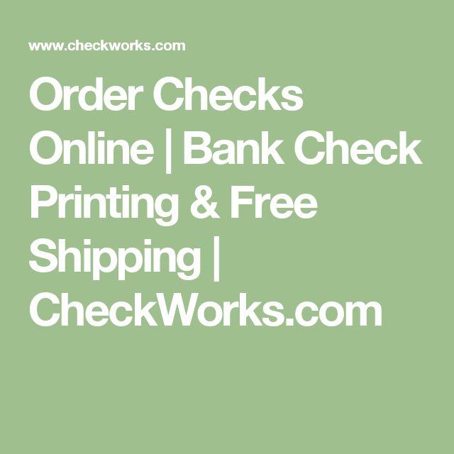 Order Checks Online | Bank Check Printing & Free Shipping | CheckWorks.com