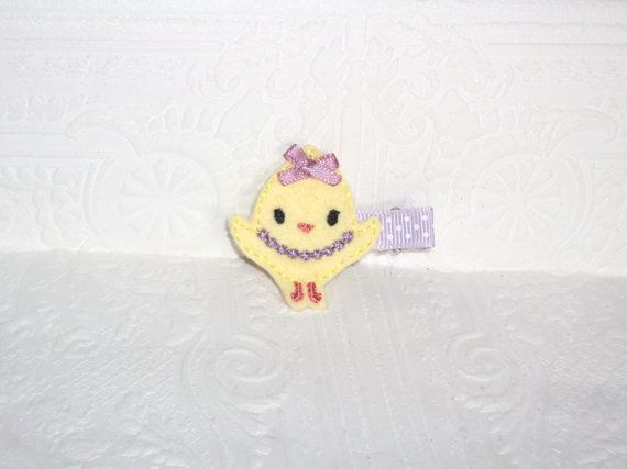 Check out this item in my Etsy shop https://www.etsy.com/ca/listing/255530176/fancy-chick-clip-baby-chick-clip-easter