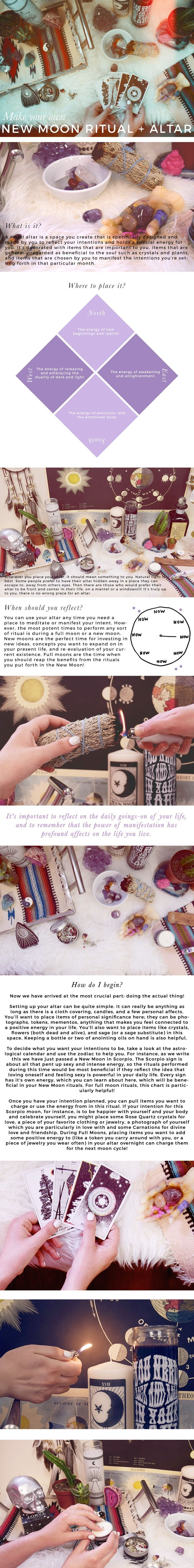 DIY Your own full moon altar and personal ritual! So easy, so important.