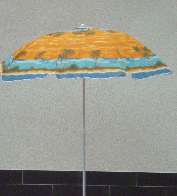 Sonnenschirm Strandschirm Campingschirm mit Knicker 180 cm Hawaii Muster NEU