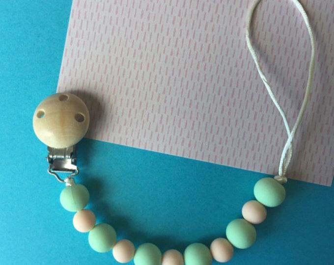 Pacifier Clip,silicone beads. Nursing Clip, Paci Clip, Soother, Teething toy.