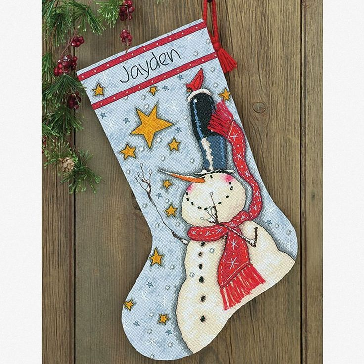 Dimensions - Counted Cross Stitch Kit - Stocking - Tall Hat Snowman