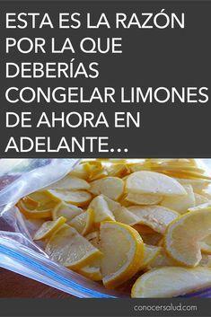 Esta es la razón por la que deberías congelar limones de ahora en adelante…