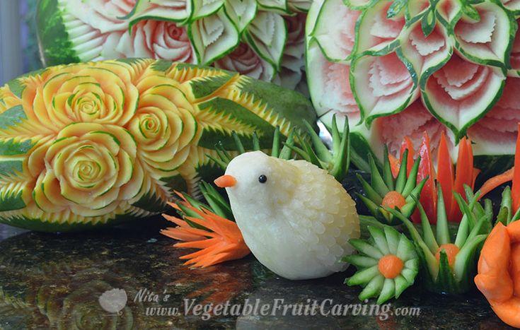 diakon bird Thai carving