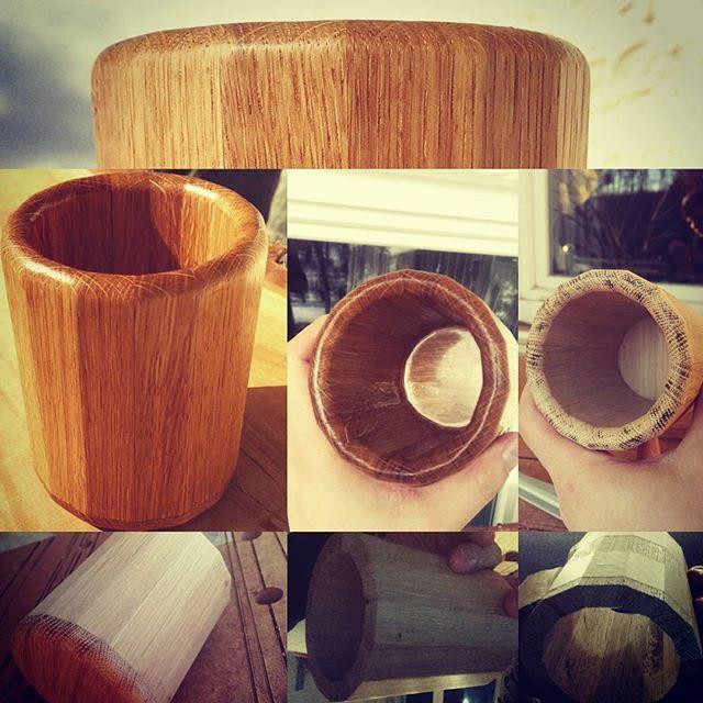 Self made tea mug -  oak