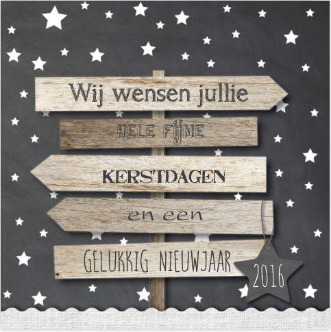 #kerst #kaart #kerstkaart #hout #wegwijzer #grijs #sterren #kerstster #sneeuw #sneeuwvlokken #fuif #merry #christmas #2016