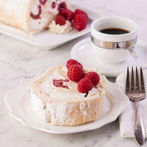 Got raspberries? Make Raspberry Angel Roll Cake, gluten free. Everyone will be glad you did.