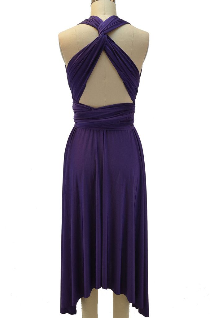multi-wear infinity wrap dress - dark purple - FINAL SALE