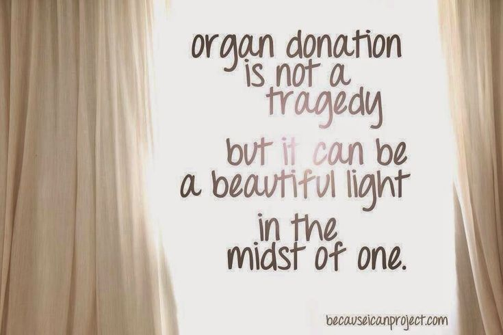 Organ Donation: A beautiful light in the midst of a tragedy