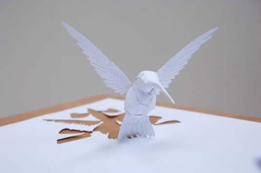 Amazing cut paper art: Paper Cut, Peter O'Toole, Peter Callesen, Paper Birds, Paper Art, Paperart, Paper Sculptures, Paper Crafts, Hummingbirds