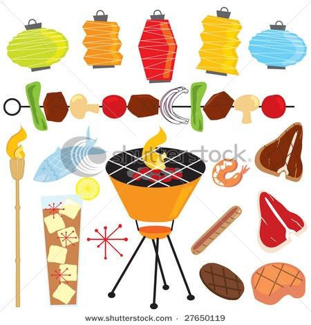 tiki: Barbeque Food, Art Illustrations, Retro Barbeque, Shish Kabobs, Marketing Ideas, Parties Royalty, Tiki Torches, Bbq Parties, Barbeque Parties