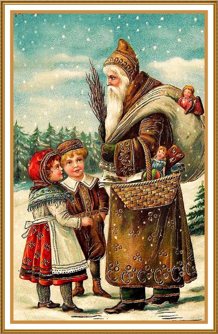 Старинные картинки дед мороз